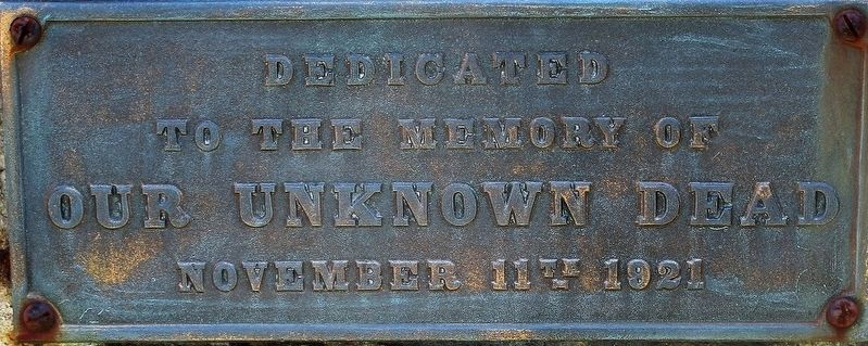 Our Unknown Dead Marker image. Click for full size.