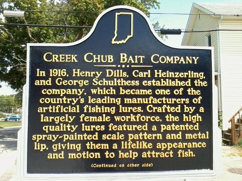 Creek Chub Bait Company Marker image. Click for full size.
