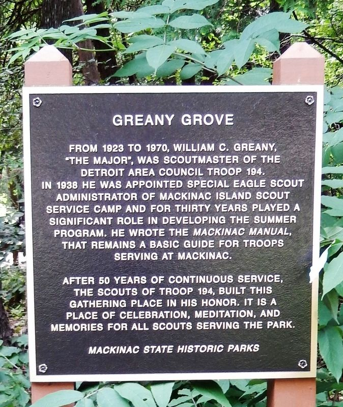Greany Grove Marker image. Click for full size.