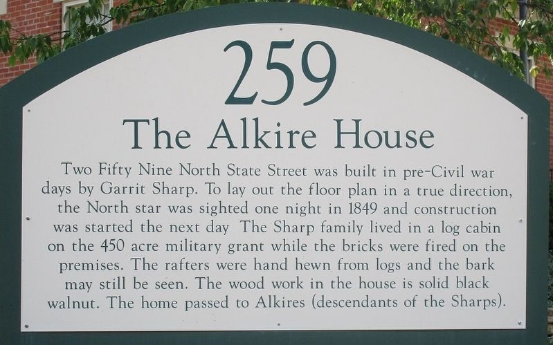 The Alkire House Marker image. Click for full size.