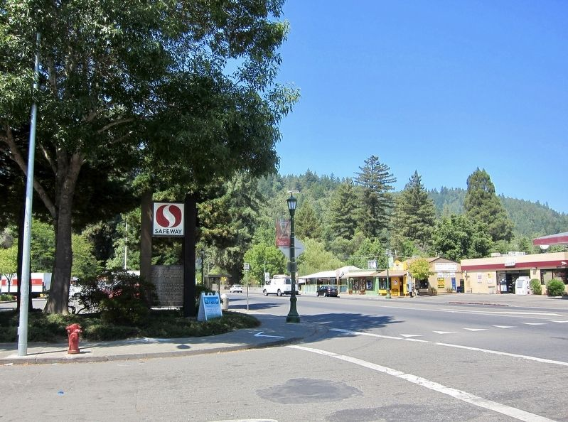 Guerneville Historical Marker Marker - Wide View, Looking West image. Click for full size.