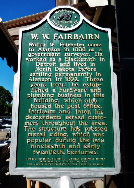 W. W. Fairbairn Marker image. Click for full size.