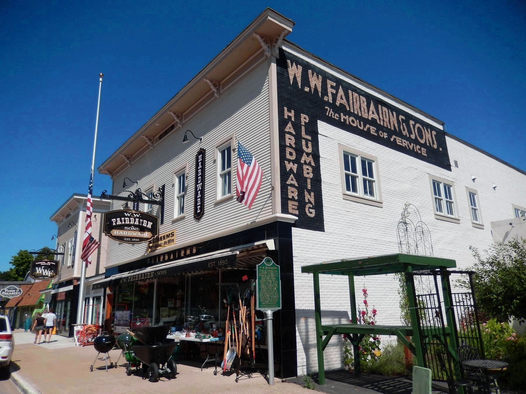 W. W. Fairbairn Hardware Store (<b><i>marker visible at front corner</b></i>) image. Click for full size.