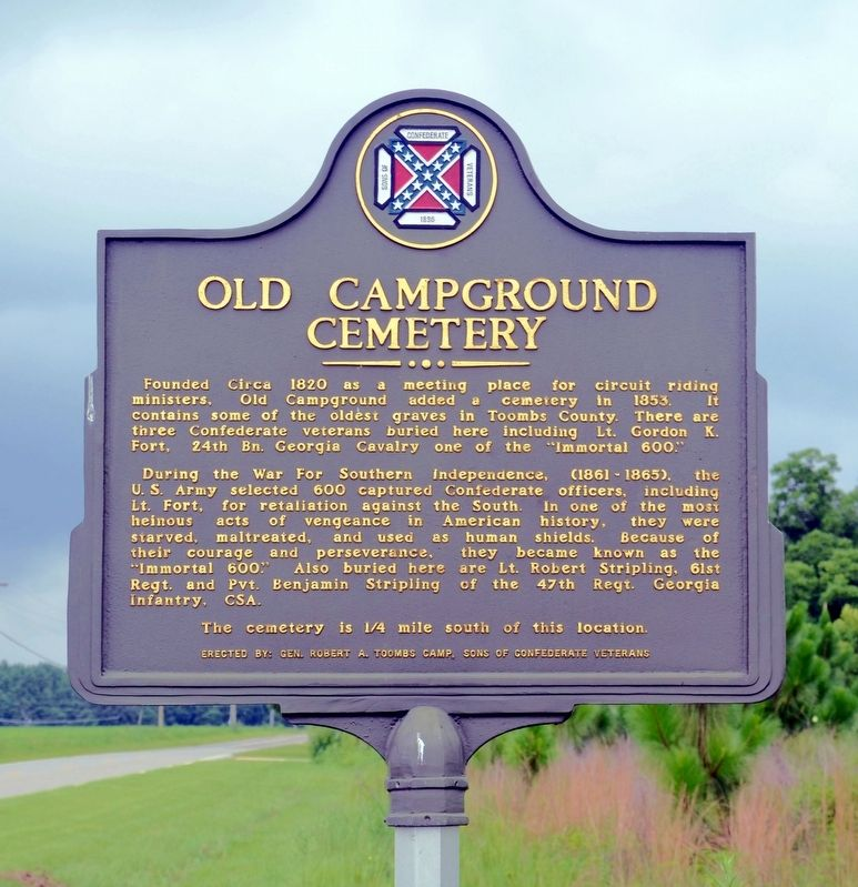 Old Campground Cemetery Marker image. Click for full size.
