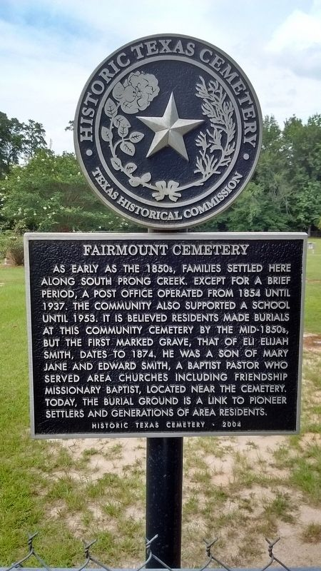 Fairmount Cemetery Marker image. Click for full size.