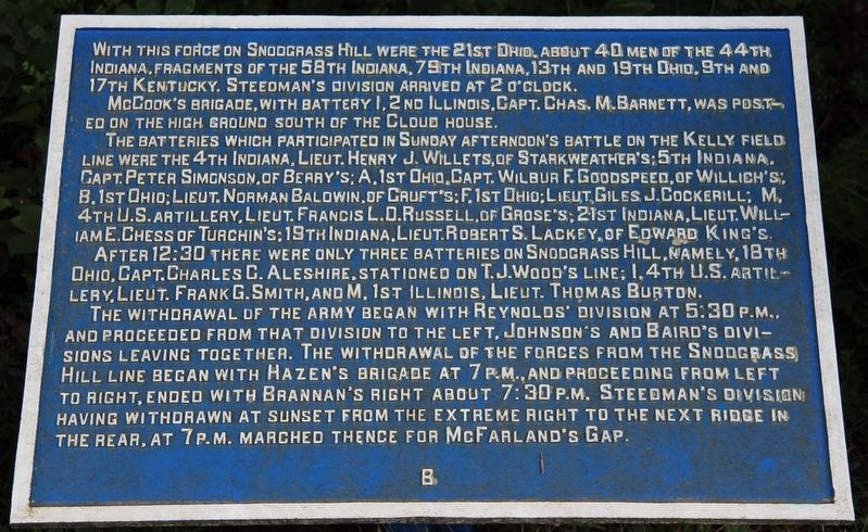 Army of the Cumberland Marker image. Click for full size.