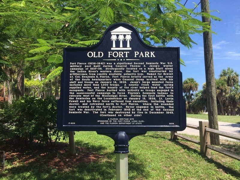 Old Fort Park Marker image. Click for full size.