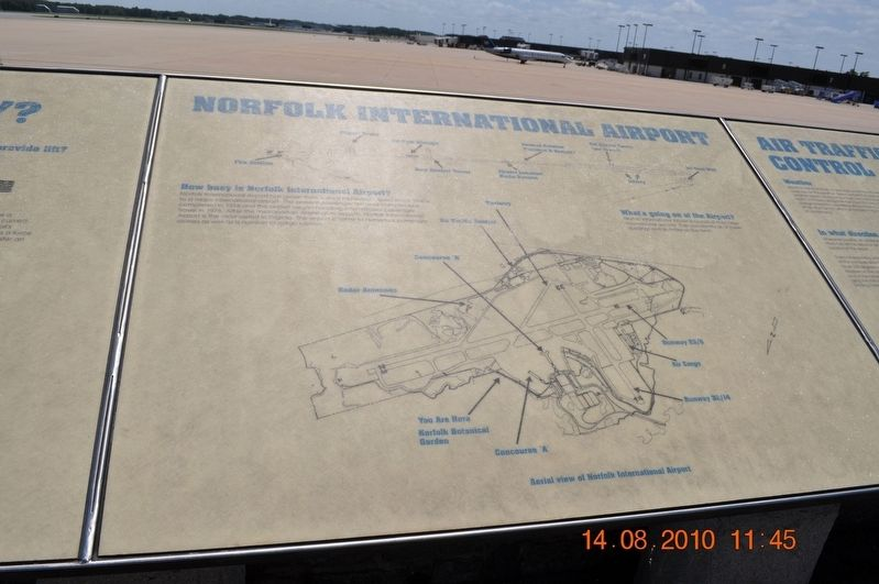 Norfolk International Airport Marker image. Click for full size.