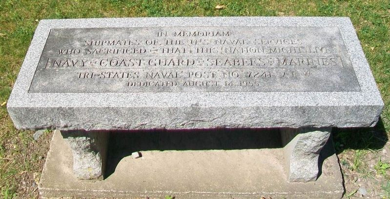 U.S. Naval Services Honored Dead Memorial Bench image. Click for full size.