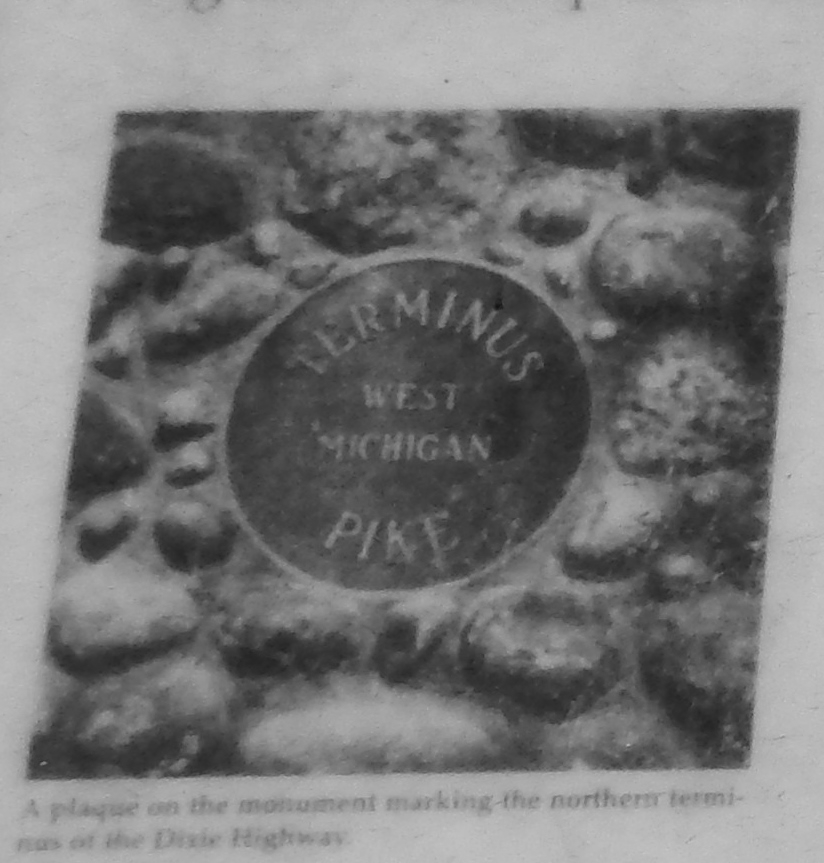 The Dixie Highway Marker (<b><i>northern terminus plaque detail</b></i>)