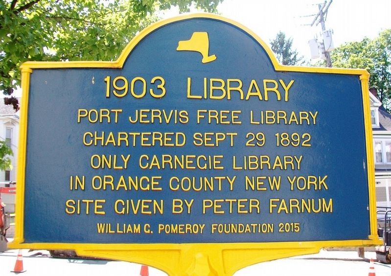 1903 Library Marker image. Click for full size.