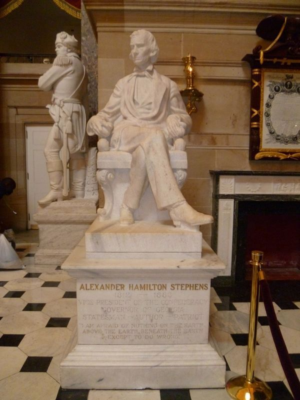 Statue of Alexander Hamilton Stephens at the US Capitol image. Click for full size.