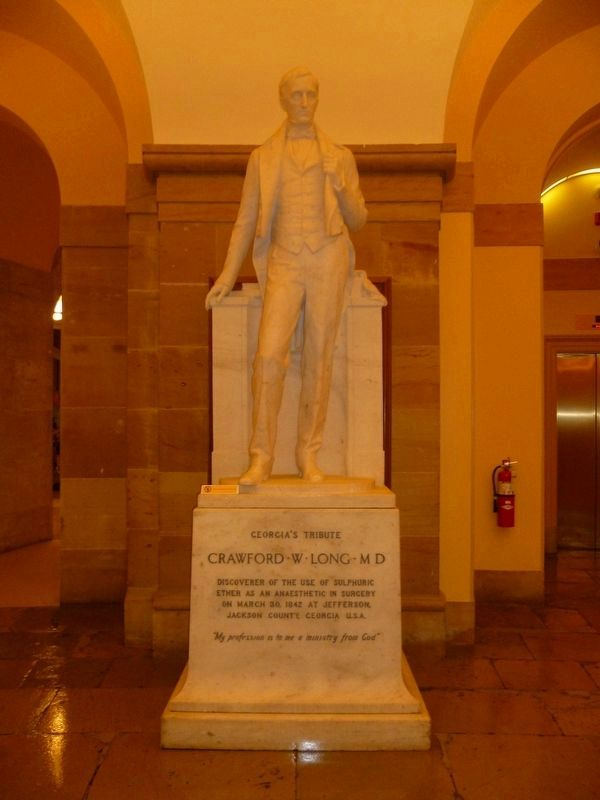 Crawford Long statue at the US Capitol image. Click for full size.