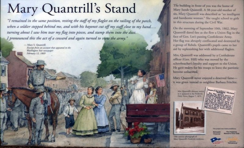 Mary Quantrill's Stand Marker image. Click for full size.