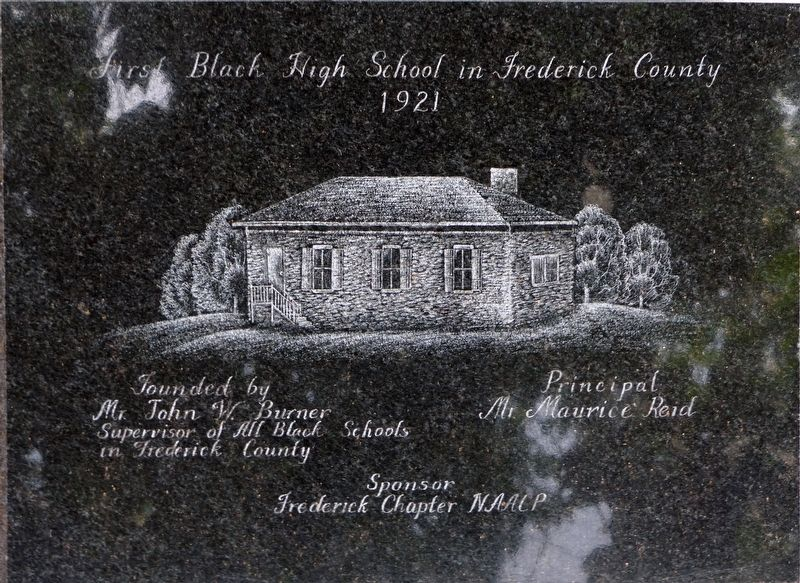 First Black High School in Frederick County Marker image. Click for full size.