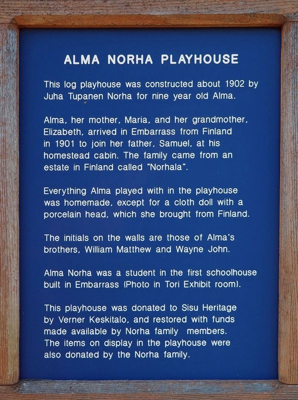 Alma Norha Playhouse marker image. Click for full size.