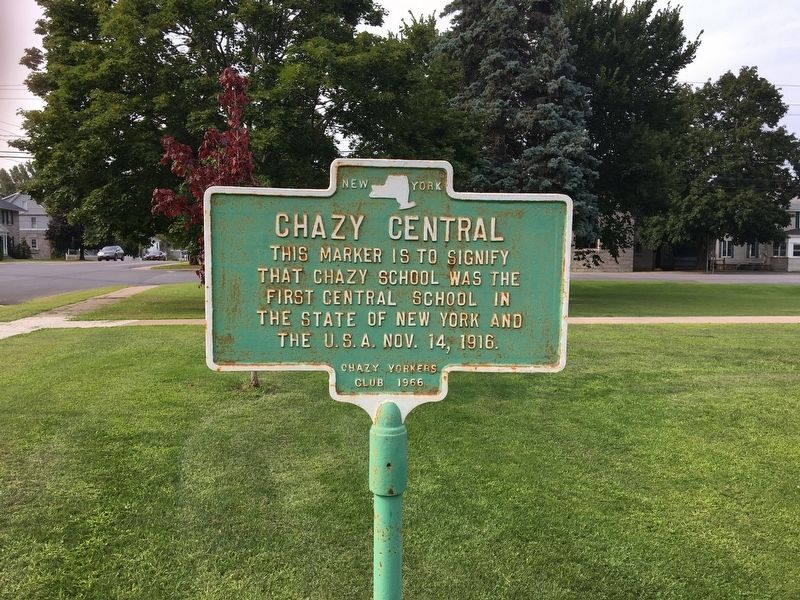 Chazy Central Marker image. Click for full size.