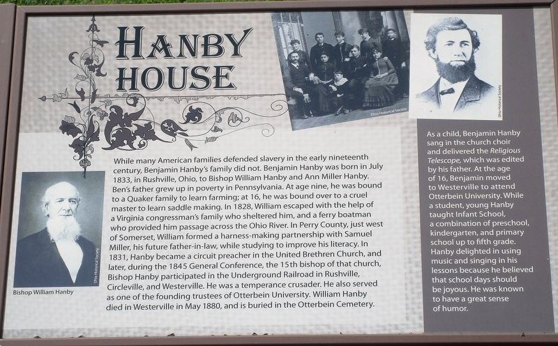Hanby House Marker image. Click for full size.