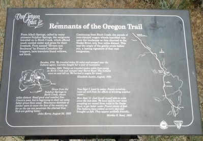 Remnants of the Oregon Trail Marker image. Click for full size.