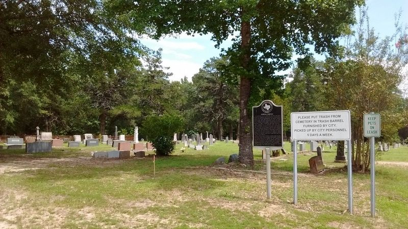 Hemphill Cemetery Marker image. Click for full size.