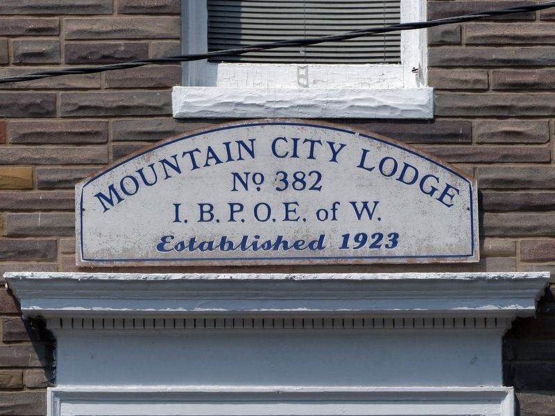 Mountain City Lodge<br>No. 382<br>I.B.P.O.E. of W.<br>Established 1923 image. Click for full size.