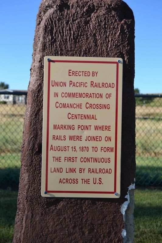 Comanche Crossing Centennial Marker image. Click for full size.