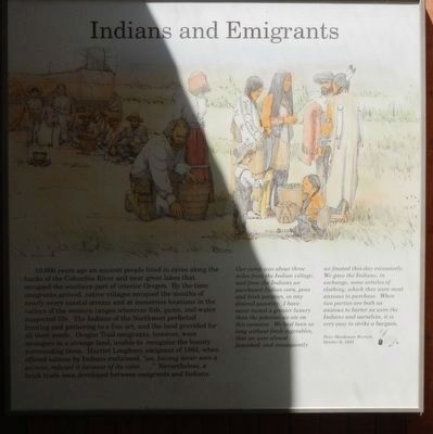 Indians and Emigrants Marker image. Click for full size.