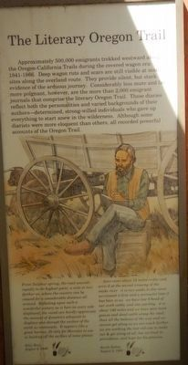 The Literary Oregon Trail Marker image. Click for full size.