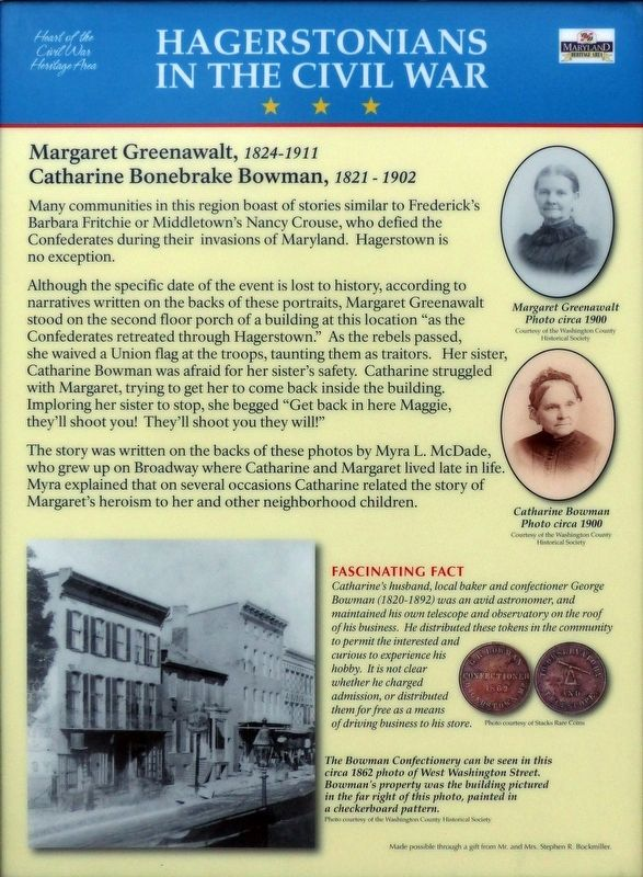 Hagerstonians in the Civil War Marker image. Click for full size.