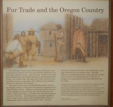Fur Trade and the Oregon Country Marker image. Click for full size.