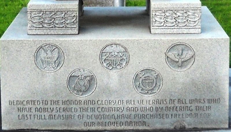 A detail view of the front base inscription. image. Click for full size.