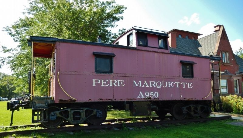 Pere Marquette Caboose A950 (<b><i>on display behind Union Depot</b></i>) image. Click for full size.