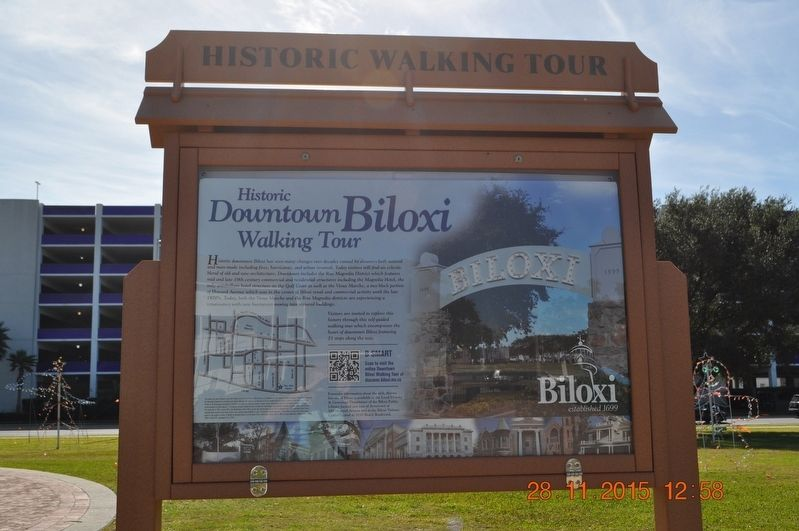 Historic Downtown Biloxi Walking Tour Marker image. Click for full size.