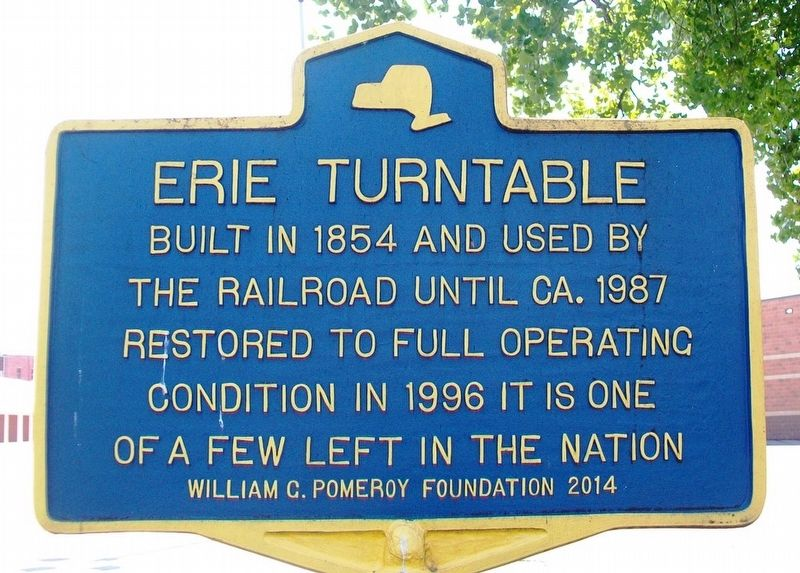 Erie Turntable Marker image. Click for full size.