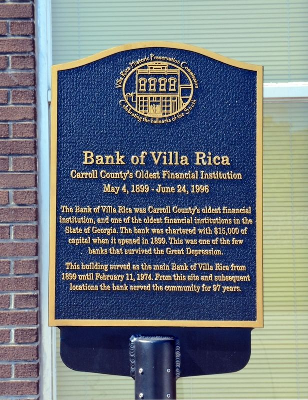 Bank of Villa Rica Marker image. Click for full size.