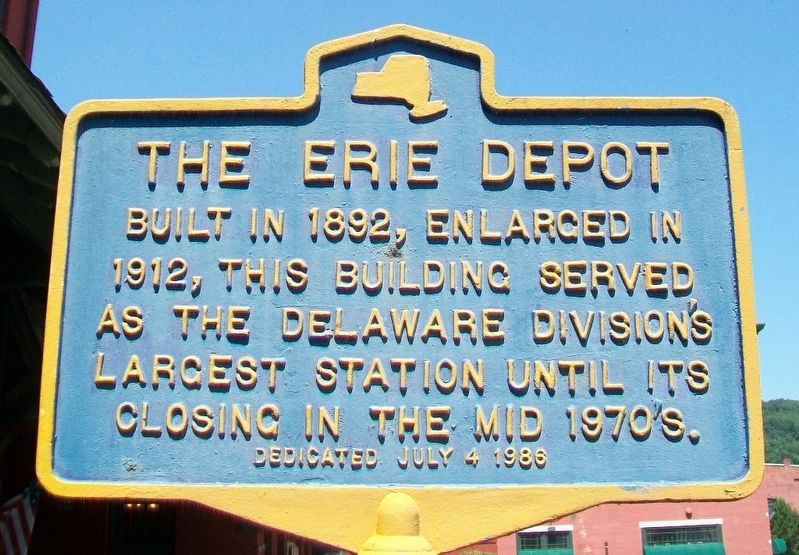 The Erie Depot Marker image. Click for full size.