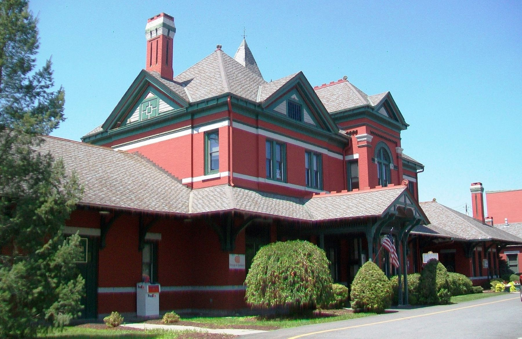 The Erie Depot and Marker image. Click for full size.