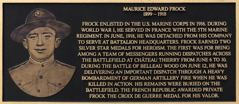 Maurice Edward Frock Marker image. Click for full size.