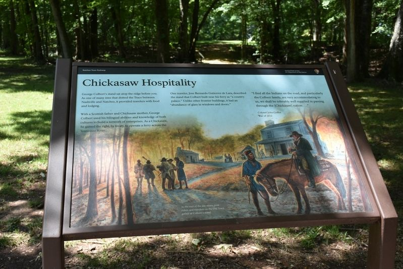 Chickasaw Hospitality Marker image. Click for full size.