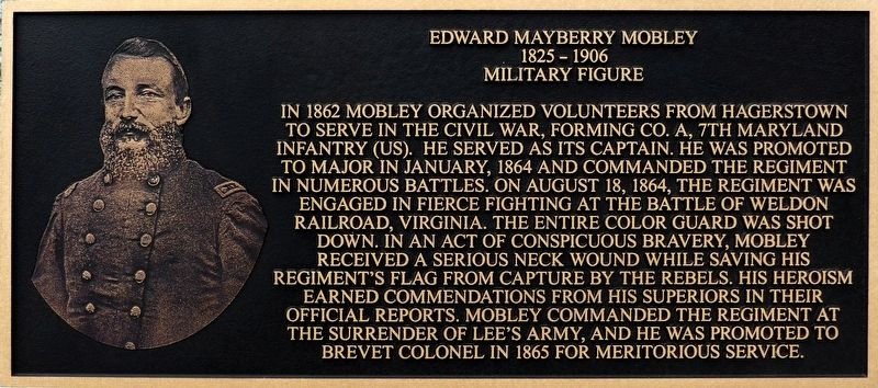 Edward Mayberry Mobley Marker image. Click for full size.