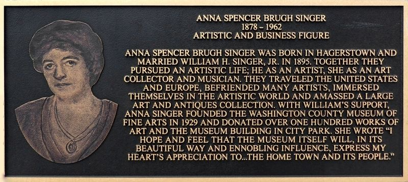 Anna Spencer Brugh Singer Marker image. Click for full size.