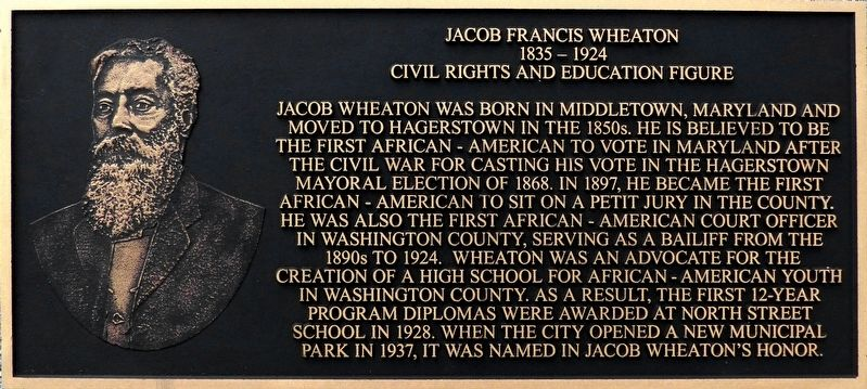Jacob Francis Wheaton, 1835-1924 Marker image. Click for full size.