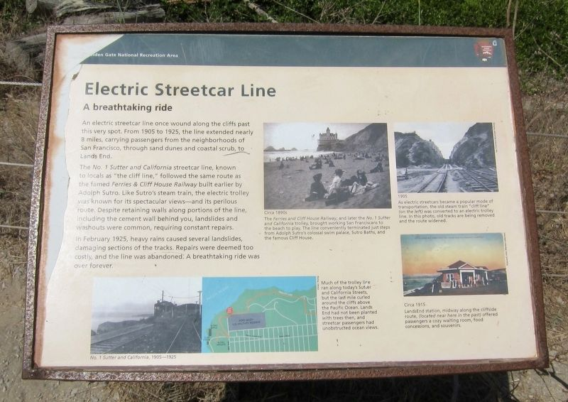 Electric Streetcar Line Marker image. Click for full size.