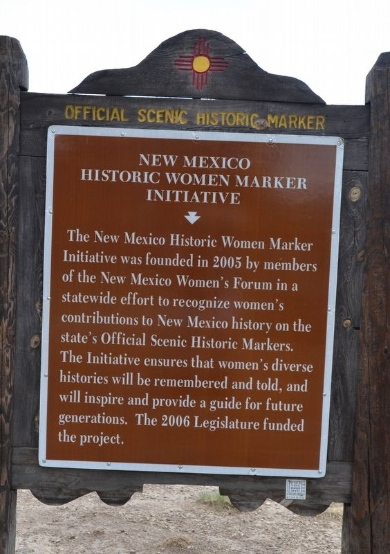 New Mexico Historic Women Marker Initiative Marker image. Click for full size.