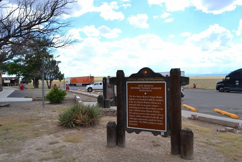 State Markers at Thaxton Southbound Rest Area image. Click for full size.