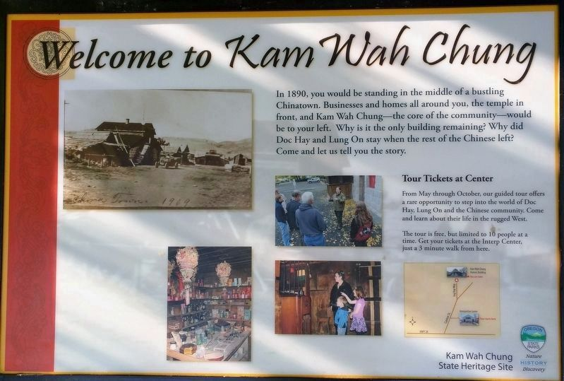 Welcome to Kam Wah Chung Marker image. Click for full size.