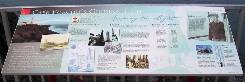 Cape Forchu's Guiding Light Marker image. Click for full size.