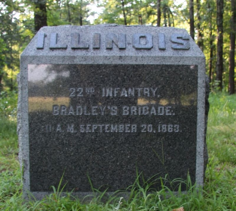 22nd Illinois Infantry Marker image. Click for full size.