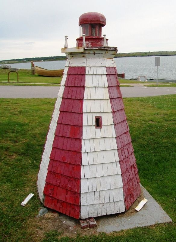 Model of Original Cape Forchu Lighthouse image. Click for full size.