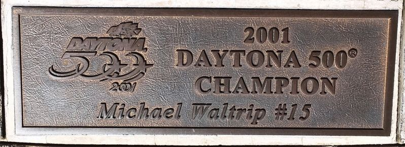 Daytona 500 2001 Winner Marker image. Click for full size.